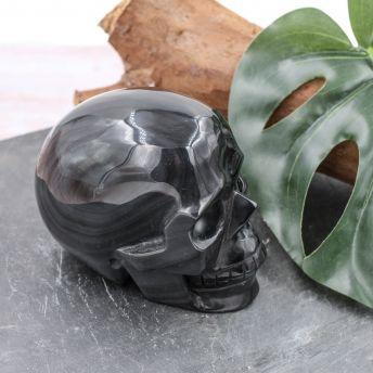 Crâne en Obsidienne Oeil céleste