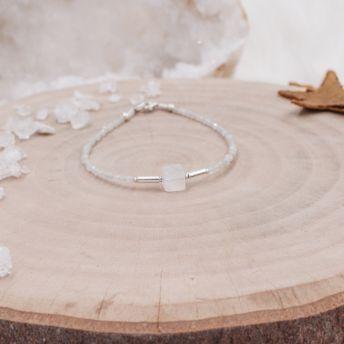 Bracelet fin argent Pierre de Lune