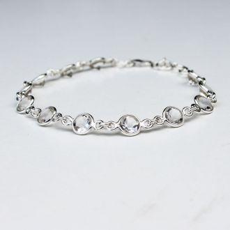 bracelet argent cristal de roche