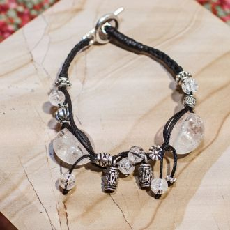 Bracelet ficelle Cristal de Roche