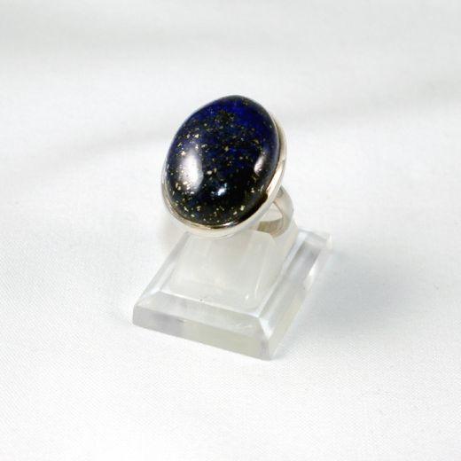 Bague en Lapis Lazuli sur argent, gros cabochon