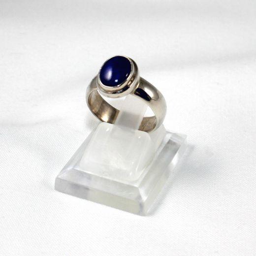 Bague en Lapis Lazuli sur argent, petit cabochon