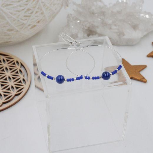 Boucles créoles Lapis Lazuli