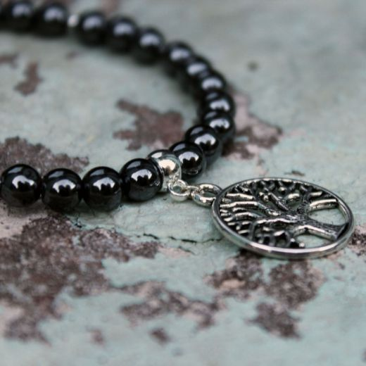 bracelet arbre de vie hématite