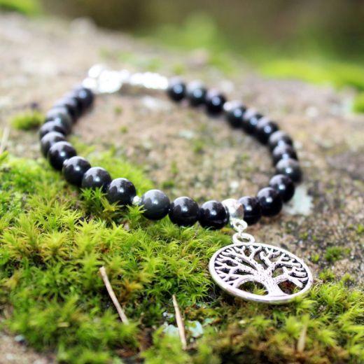 bracelet obsidienne arbre de vie