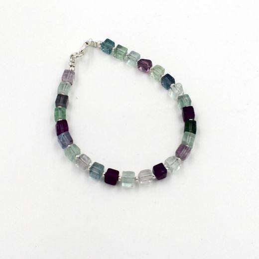 bracelet cubes en fluorine