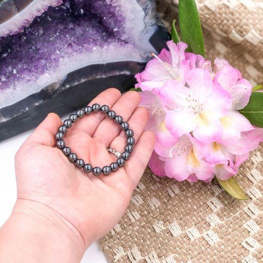 bracelet élastique pierre