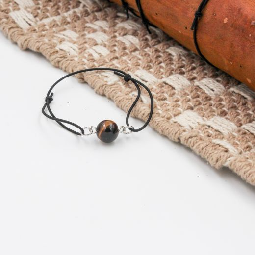 bracelet élastique oeil de tigre