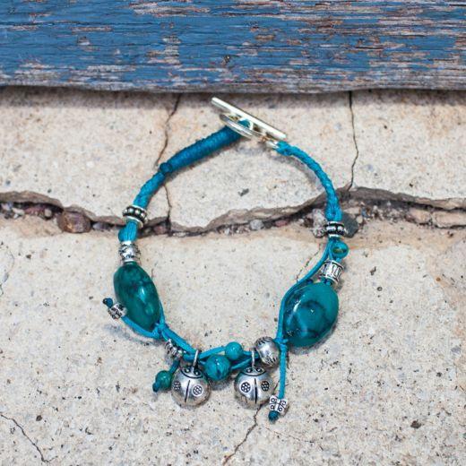 Bracelet ficelle Turquoise