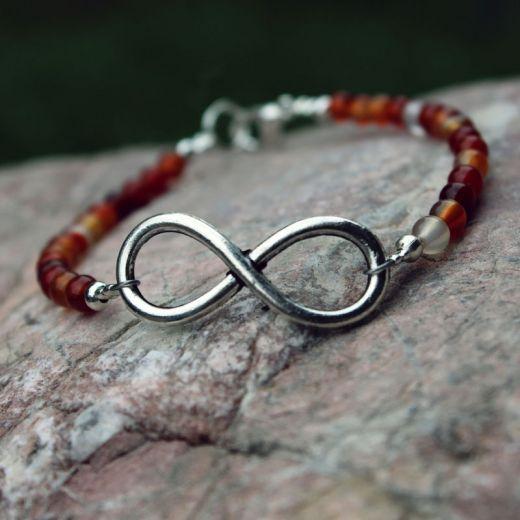 bracelet perles Cornaline Infini