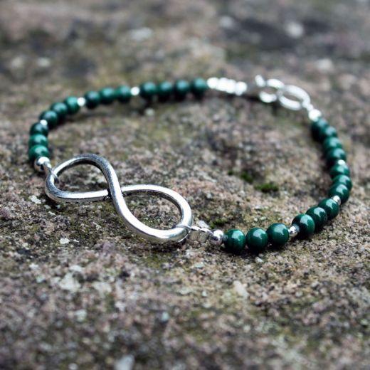 Bracelet Malachite infinity