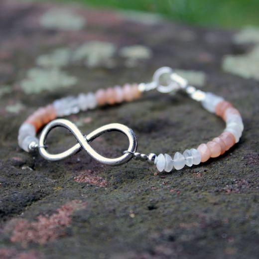 Bracelet pierre de lune infinity