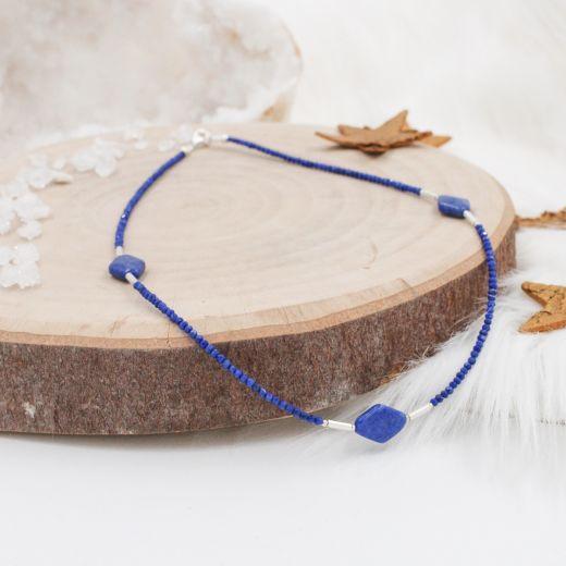 Collier fin argent Lapis Lazuli