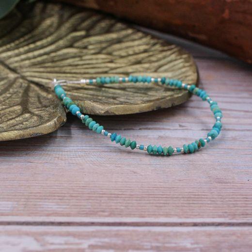 Bracelet Turquoise fin argent