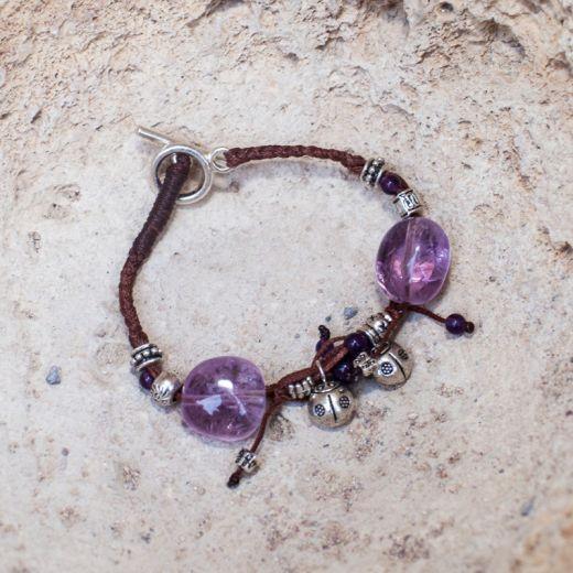 Bracelet ficelle Améthyste