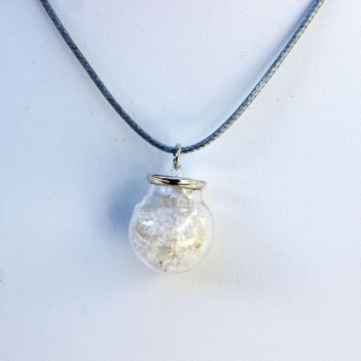 pendentif fiole cristal de roche