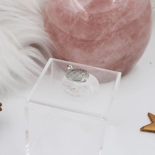 Pendentif fleur de vie Cristal de roche
