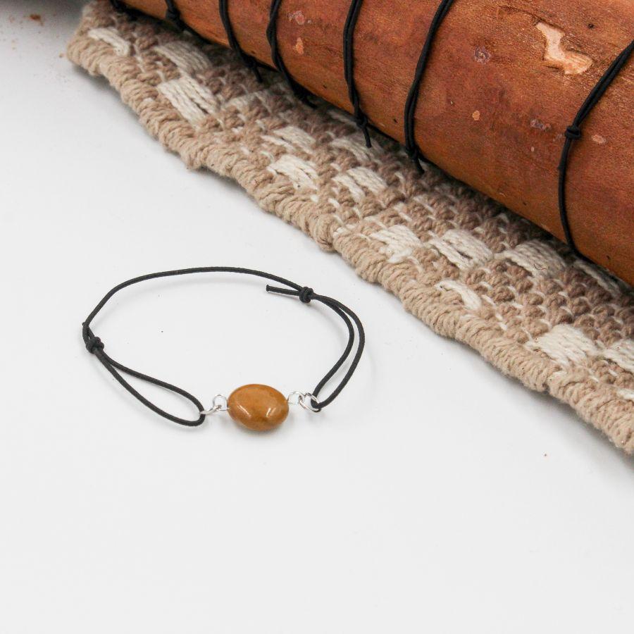 bracelet élastique jaspe