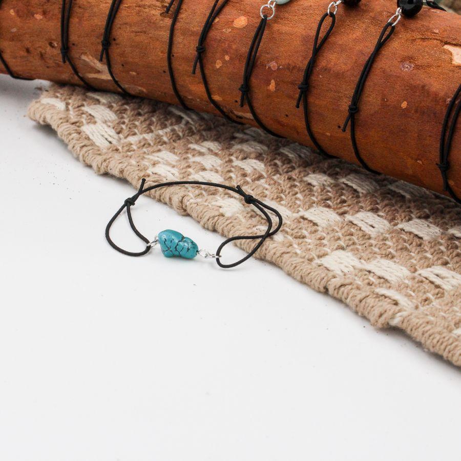 bracelet turquoise élastique