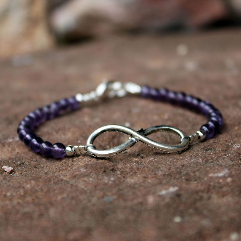 Bracelet Infinity Améthyste