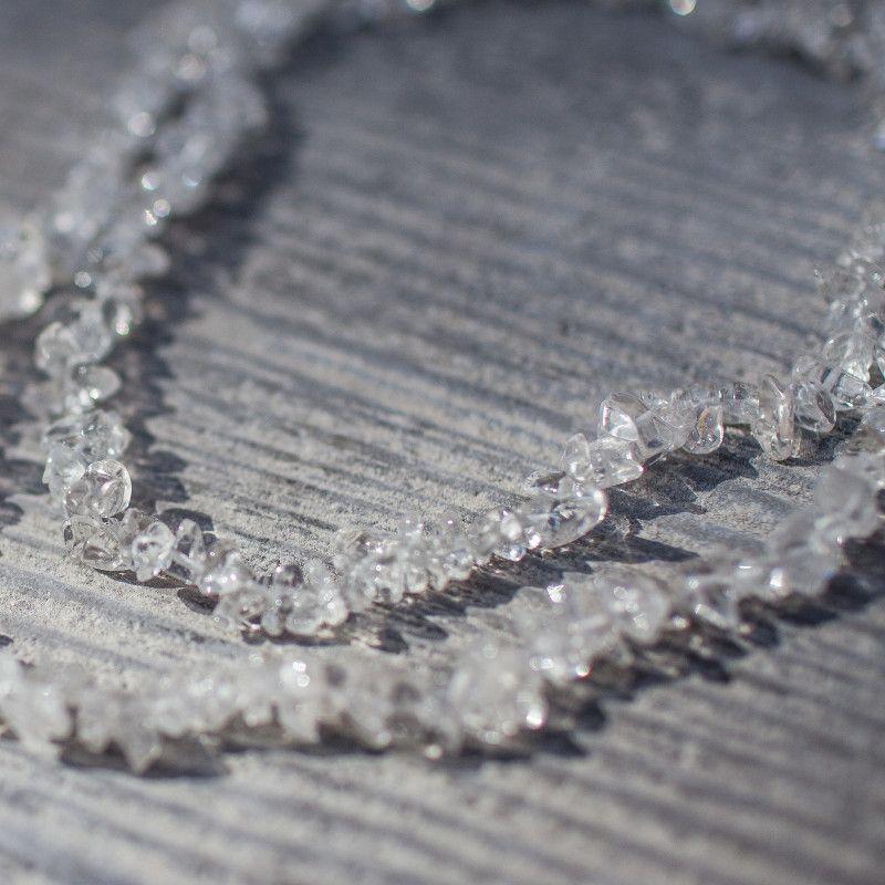 Collier sautoir baroque Cristal de roche