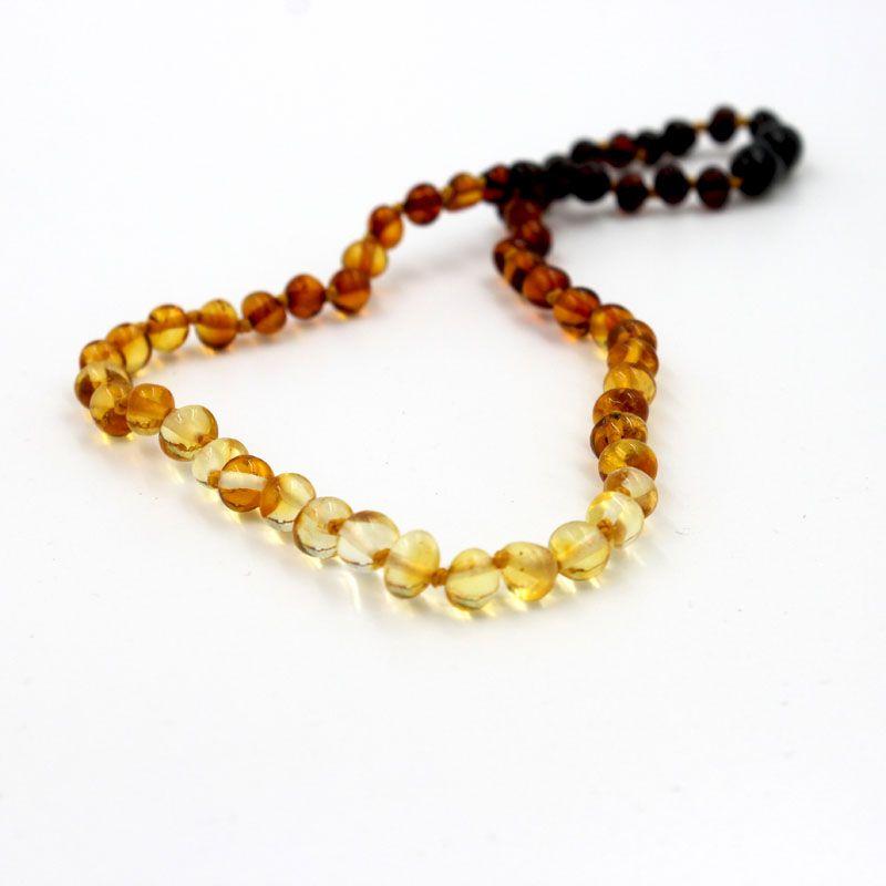 collier bébé ambre couleur